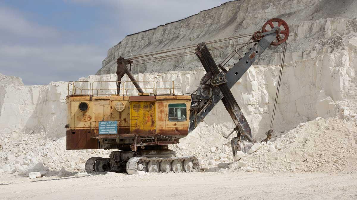 Kalkstein-Abbau in Russland