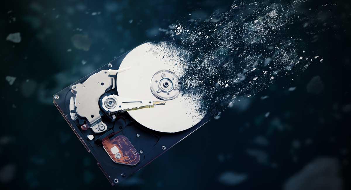 Gelöschte Daten auf einer Festplatte